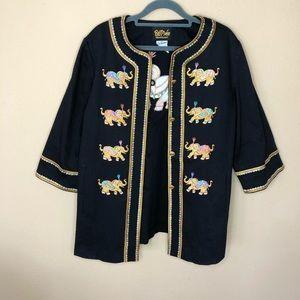 Bob Mackie Wearable Art Elephant Jacket Size M